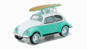 29860A  1946 Volkswagen Beetle with Roof Rack and Surfboards