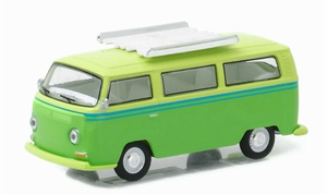 29860E  1968 Volkswagen Type 2 T2 Bus Green with Roof Rack