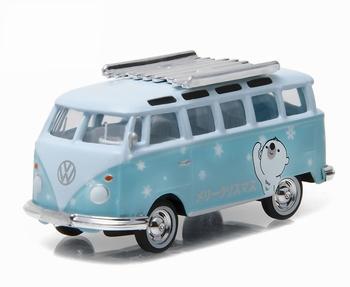 51077E  Volkswagen Samba Bus in Light Blue and White