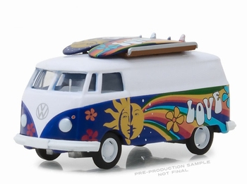 97040C  Volkswagen T2 Panel with Surfboards
