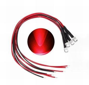 897A LED Diode Rood Bolkop (helder)