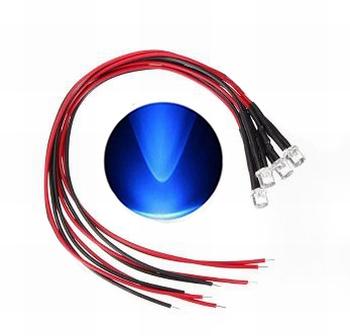 897C LED Diode Blauw Bolkop (helder)