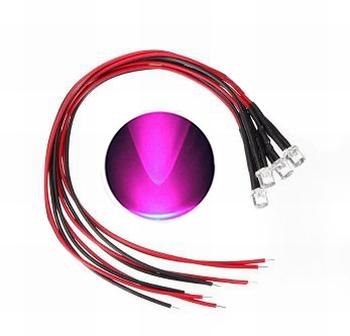 897E  LED Diode Roze Bolkop (helder)