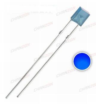 896i  LED  Diode Vierkant Rechthoek 2x5x7mm Blauw