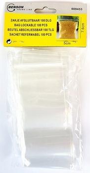 009453  Plastic Zak Afsluitbaar 5 x 7,5cm