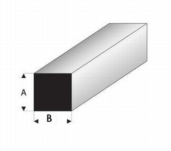 0998H  Vierkant vol profiel  1,0 x,1,5 mm  8 stuk