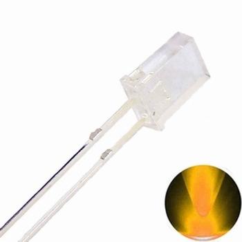 896X  LED Diode Vierkant Rechthoek 2x3x4cm Geel (helder)