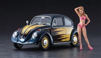 HAS52245  VW Beetle Type 1 1966 w / Blond Girl