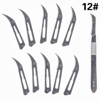 999BW12+ Handgreep Scalpel + 10 mesjes type 12#