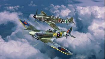 RE3710  Gevechtsset Bf109G-10 & Spitfire