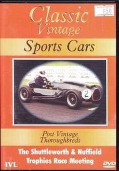 """071  Classic Vintage Sports Cars""""Post Vintage Thoroughbreds"""