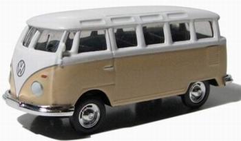 96072  Volkswagen Samba Bus (beige/wit)