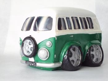 91919  Volkswagen Bus Spaarpot (groen)