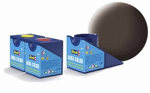 36184  Aqua Lederbruin mat