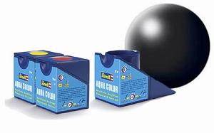 36302  Aqua Zwart zijdeglans