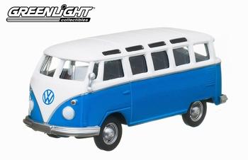 96100L  Volkswagen T1 Samba  blauw/wit