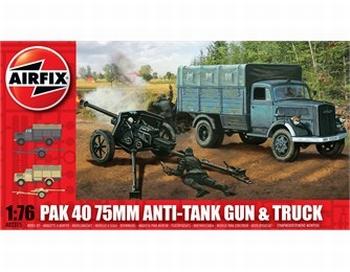 A02315  PaK 40 75mm Anti-Tank Gun & Truck