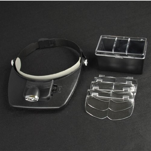007707  LED Head Magnifier