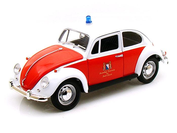 12854  Volkswagen Kever Zurich Feuerwehr (rood-wit)