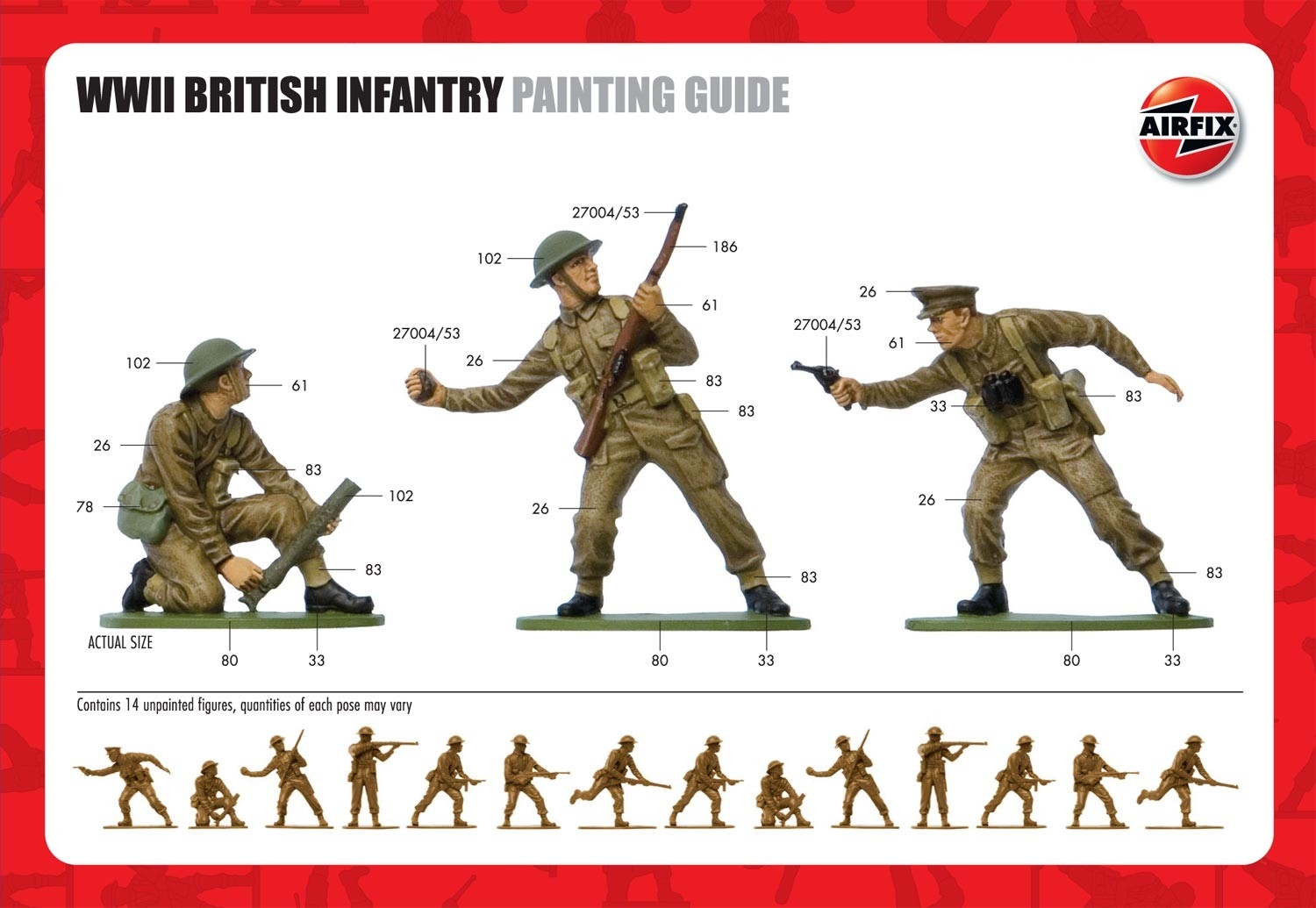 A02718  British Infantry WWII 1:32