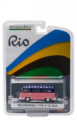 """51037A  Volkswagen T2 bus """" 2016 Rio Olympic USA """""""