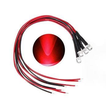 897K   LED Diode Rood Bolkop (helder)