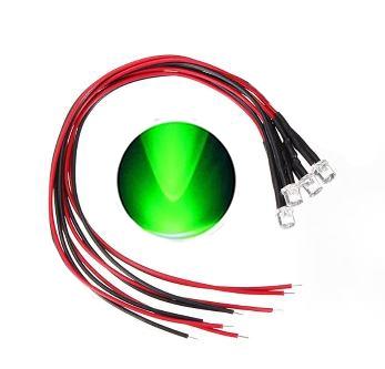 897N  LED Diode Groen Bolkop (helder)
