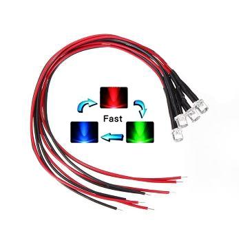 """897S  LED Diode RGB """"snel"""" Bolkop (helder)"""