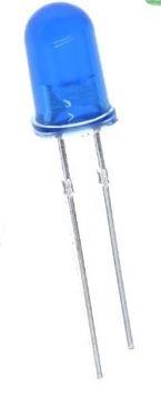 899S  LED Diode Blauw Bolkop