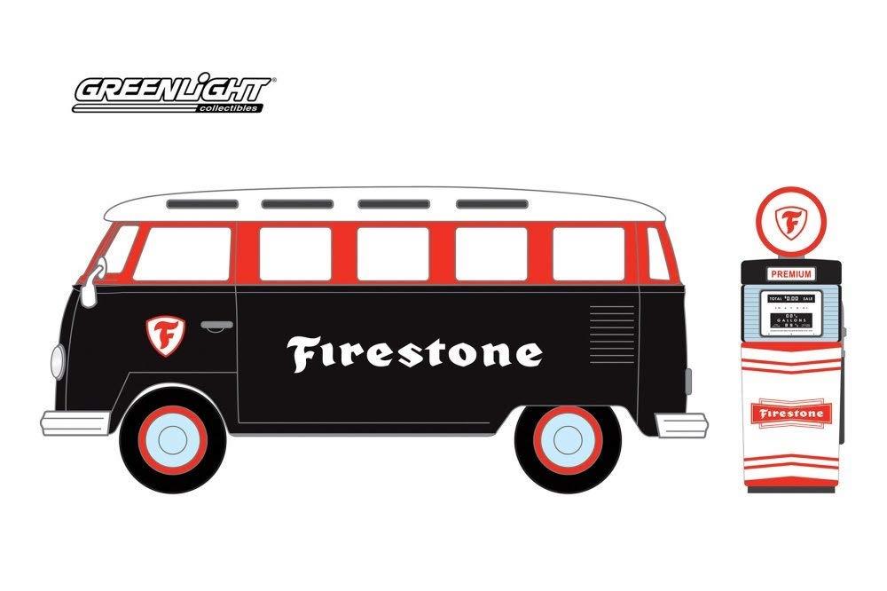 97060A  1964 Volkswagen Samba Bus met Firestone Benzinepomp,