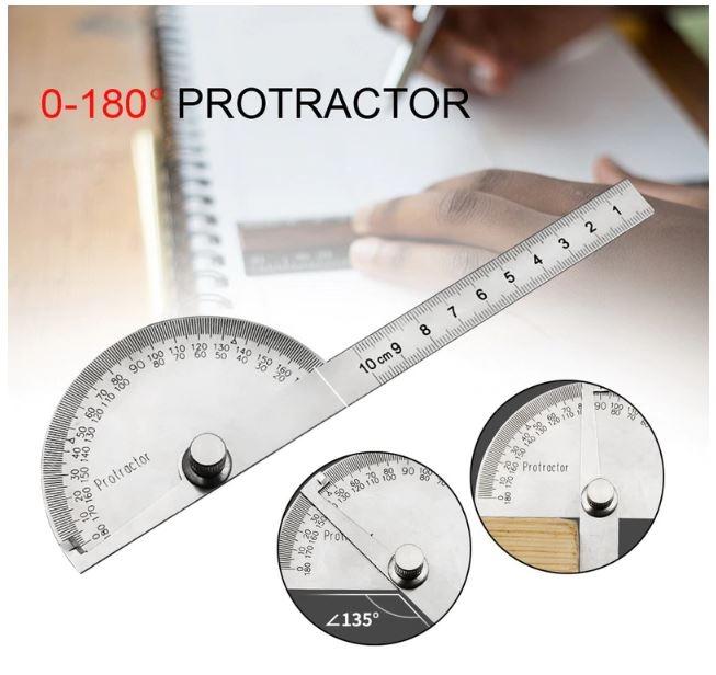 999024  180 Graden Verstelbare Protractor Multifunctioneel