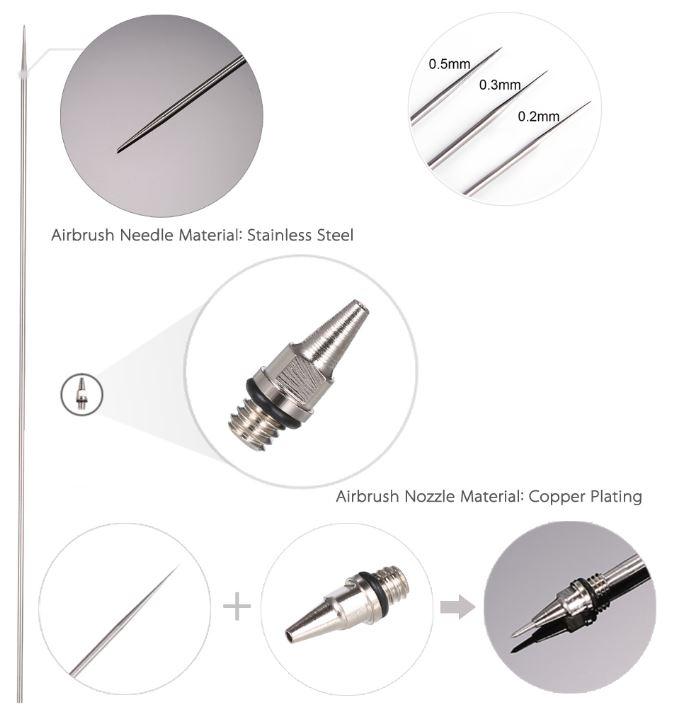999BD36050  Airbrush needle + Nozzle 0,5 mm x129 mm lang