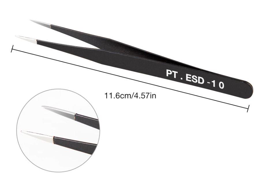 999BV10  RVS Picet ESD10 (zwart)