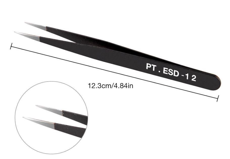 999BV12  RVS Picet ESD12 (zwart)