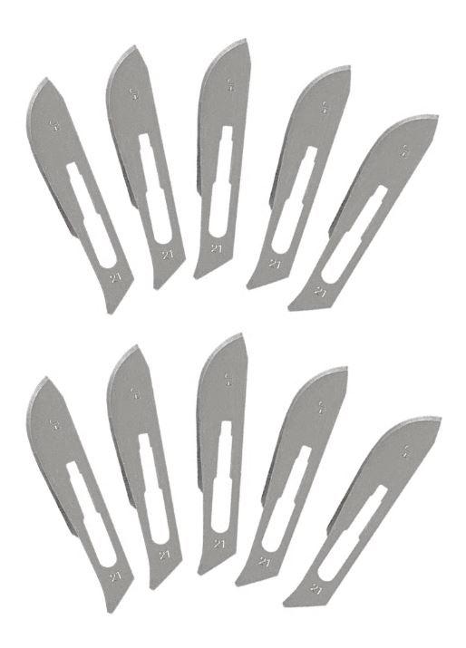 999BW21  Reserve mesjes Scalpel type 21#