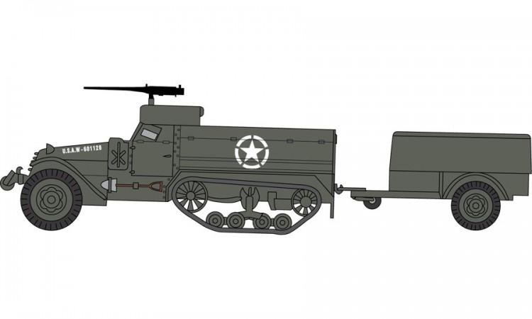 A02318  M3 Half Track & 1 Ton Trailer