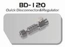 BD120  Snelkoppeling met luchtregelaar  aansluiting 1/8