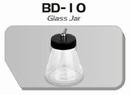 BD10  Glazen verfpotje met deksel + aansluiting kort Fengda®
