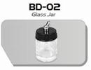 BD02  Glazen verfpotje met deksel + aansluiting kort Fengda®