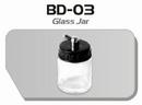 BD03  Glazen verfpotje met deksel + aansluiting kort Fengda®