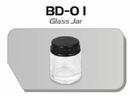 BD01  Glazen verfpotje met deksel (per stuk) Fengda®
