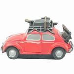 308  Volkswagen kever met Koffers  rood