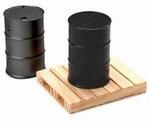 17023  2 Drums 200 liter & 1 Houten Pallet