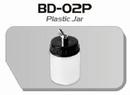 BD02P  Plastic verfpotje met deksel+aansluiting kort Fengda®