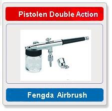 Airbrush pistolen double action