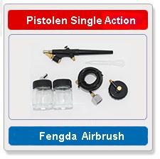 Airbrush pistolen single action